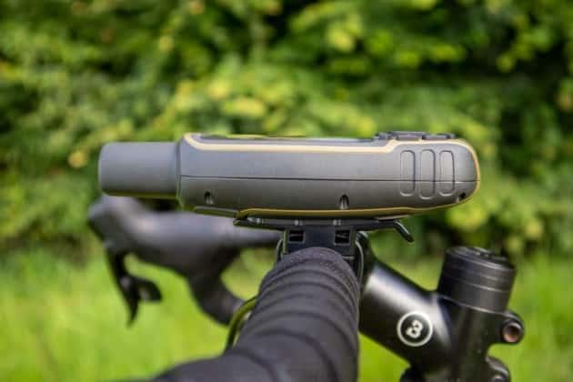 garmin gpsmap 65s fahrradhalterung links