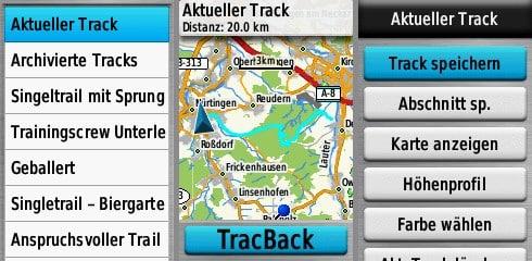 garmin gpsmap 65s test track-manager