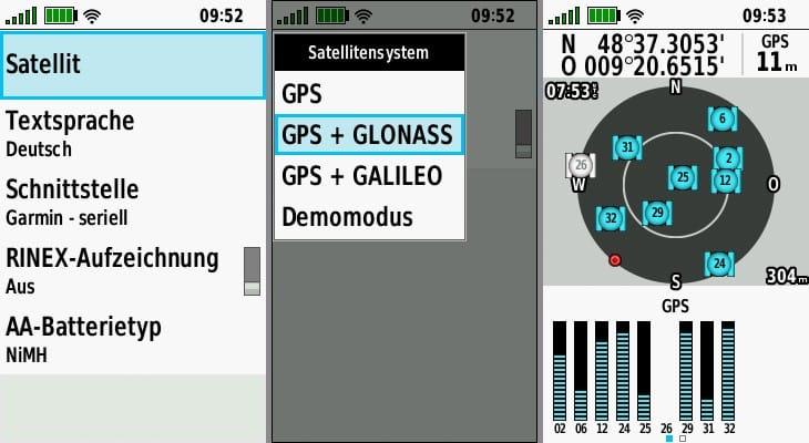 garmin gpsmap 66st gps satellit
