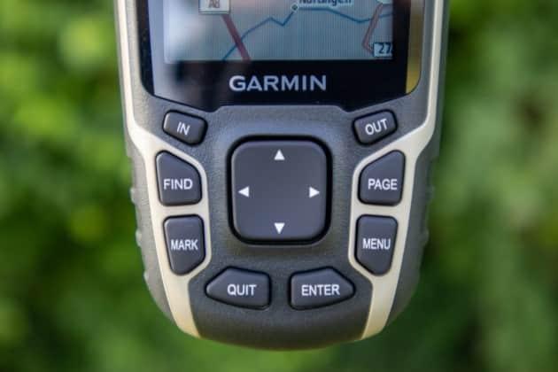 garmin gpsmap test 64sx tasten