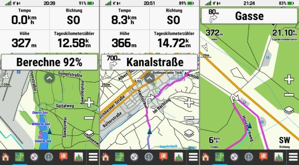garmin montana 700 navigation route