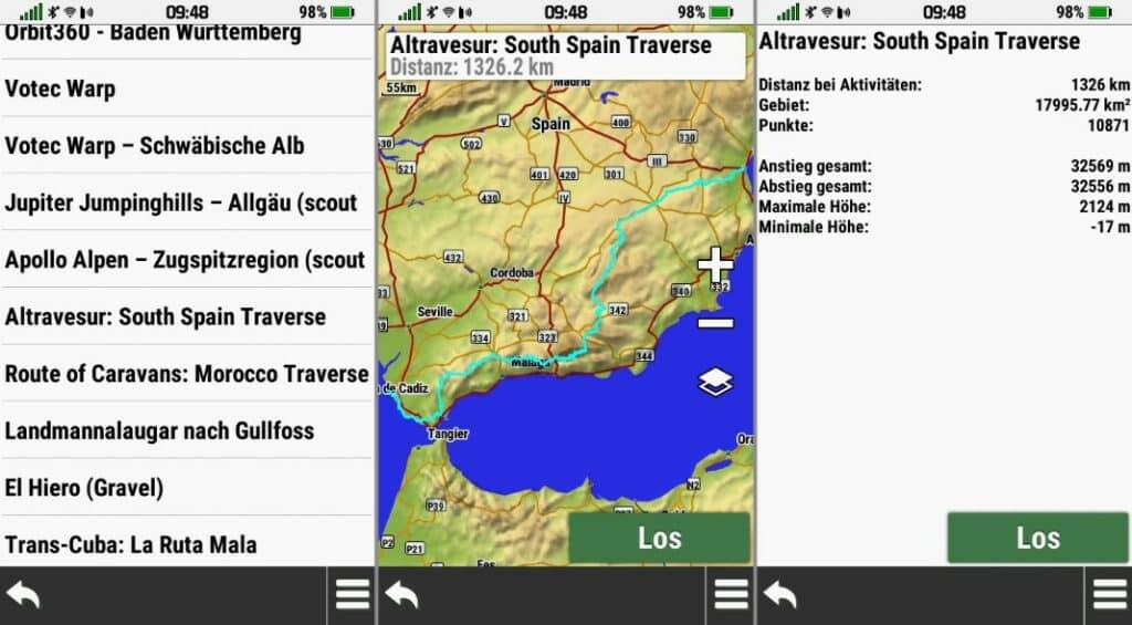 garmin montana 700 track navigation