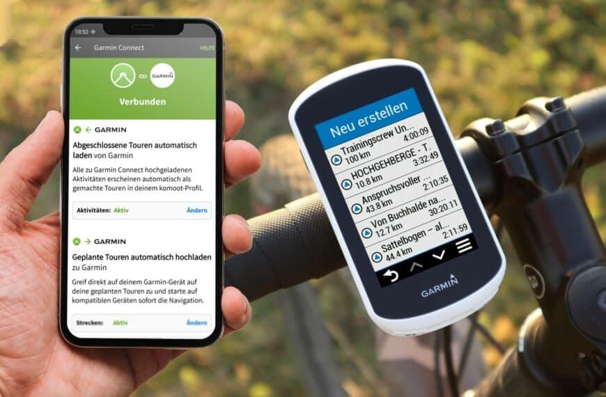 geplante komoot Touren automatisch an Garmin senden: Verbinden und synchronisieren per Schnittstelle