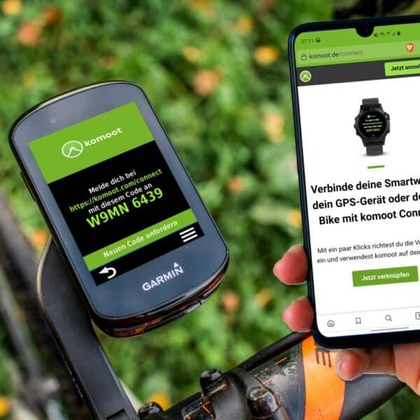 komoot auf Garmin: Strecke Übertragen und Navigieren - mit Connect IQ App